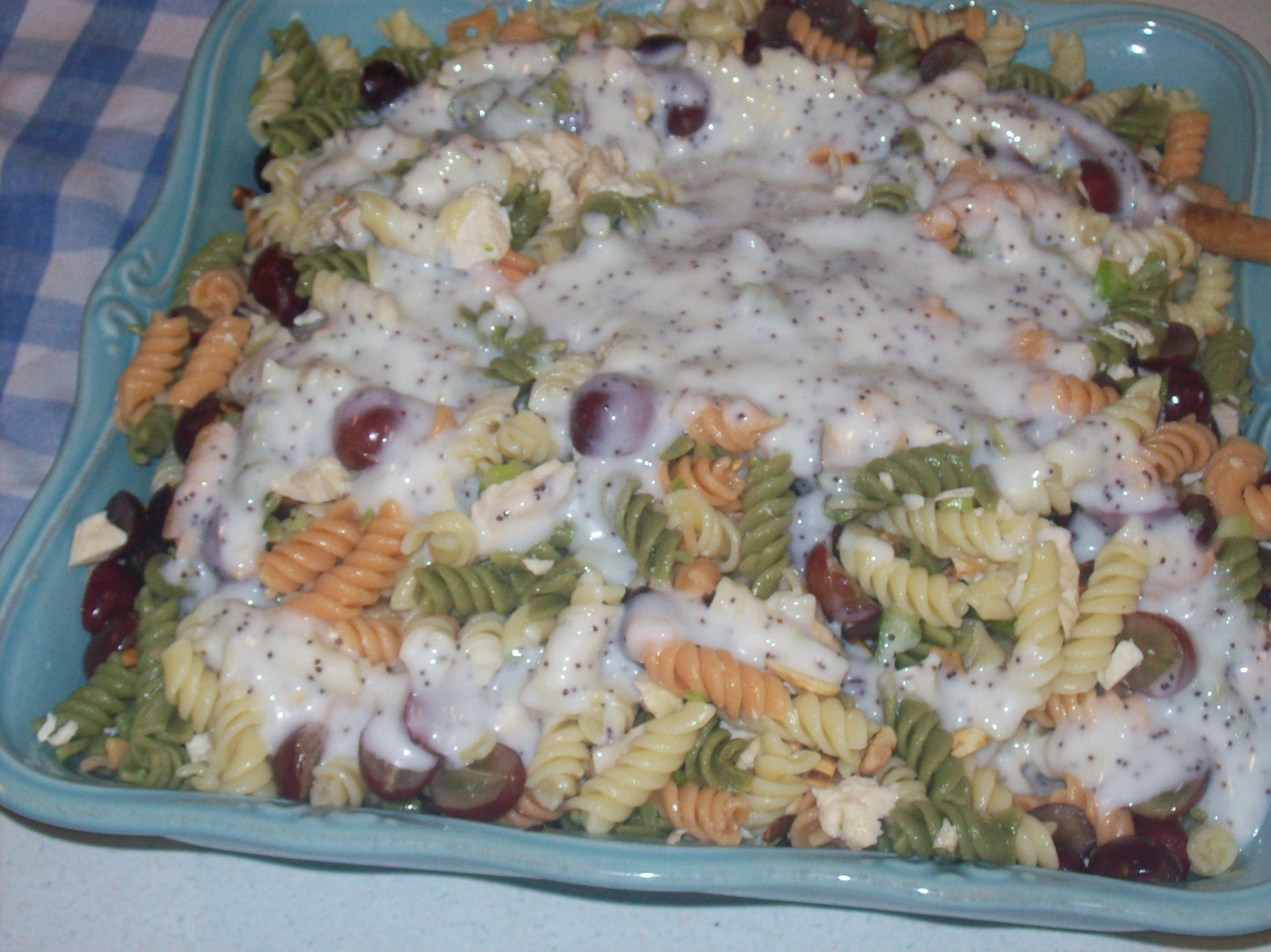 Chicken Pasta Salad With Grapes And Poppy Seed Dressing Recipes ...