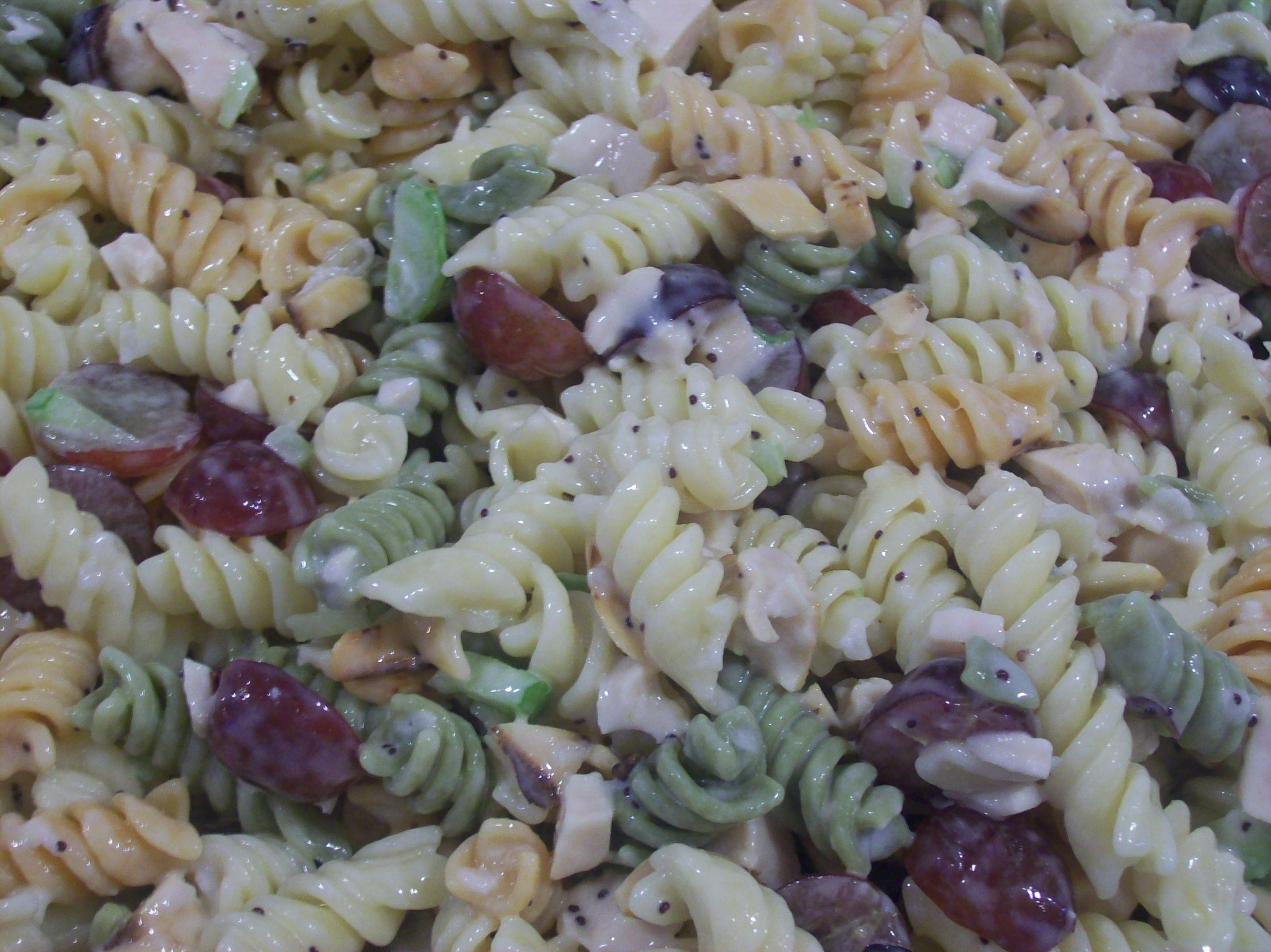 Chicken Pasta Salad With Grapes And Poppy Seed Dressing Recipe ...